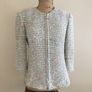 St. John Collection pastel full zip jacket Sz 6